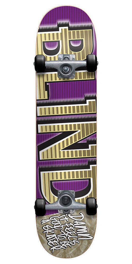 Blind Varsity Complete Skateboard - 7.6 - Purple/Gold