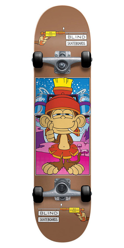 Blind Looney Monkey Complete Skateboard - 7.6 - Bronze