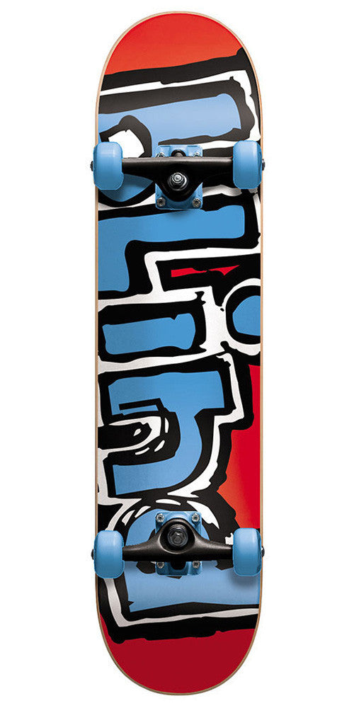 Blind Matte OG Logo Complete Skateboard - Red/Blue - 7.7