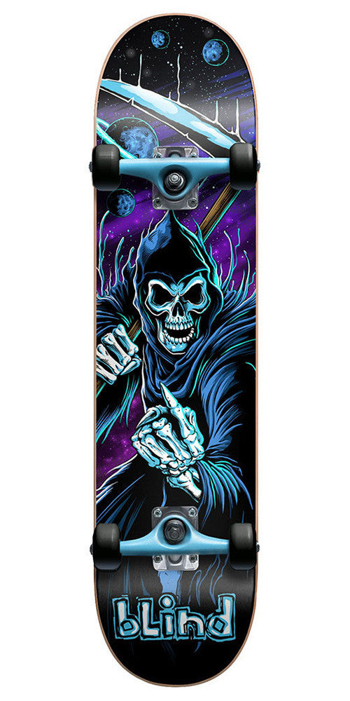 Blind Cosmic Reaper Complete Skateboard - Black/Blue - 7.6