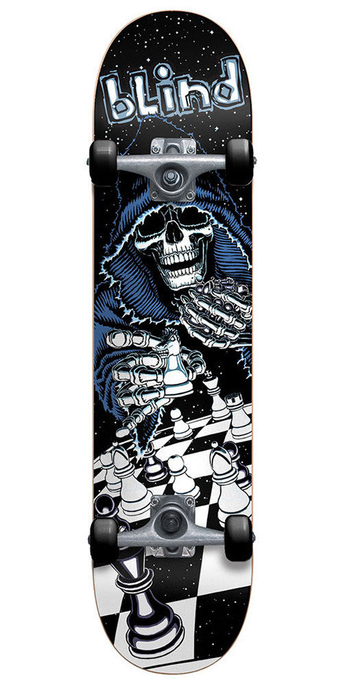 Blind Checkmate Complete Skateboard - Black/White - 7.75