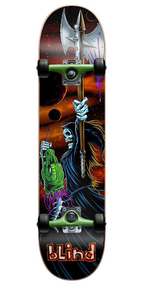 Blind Lizard Head Complete Skateboard - Orange/Green - 7.75