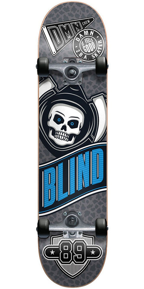 Blind Reaper Crew Complete Skateboard - Grey/Black - 7.5in