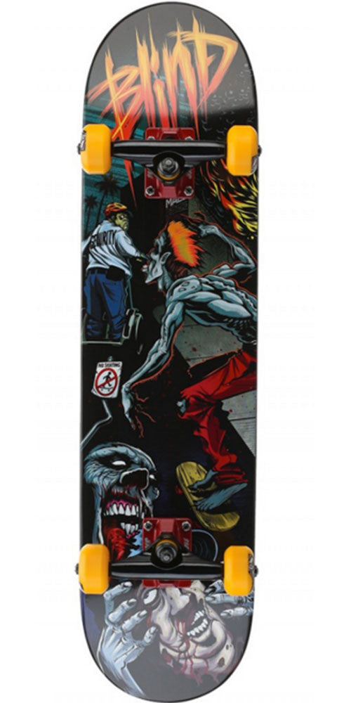 Blind Mall Zombie Complete Skateboard - Orange/Grey - 7.6in