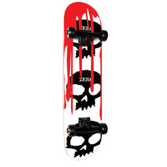 Zero 3 Skull Blood White - White/Black - 7.5in - Complete Skateboard