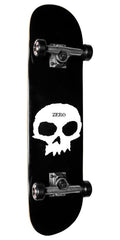 Zero Single Skull Complete Skateboard - Black/White - 7.5in