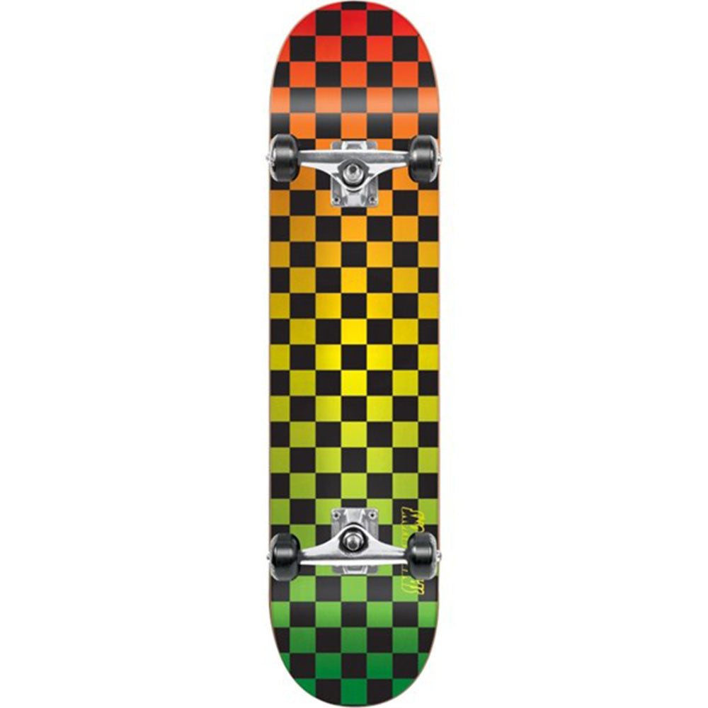 Speed Demons Faded Checks PP Complete Skateboard - Rasta - 7.8in