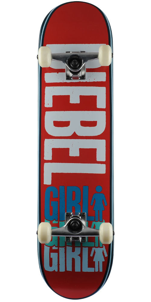 Girl Biebel Triple OG Complete Skateboard - Red - 7.875in x 31.25in