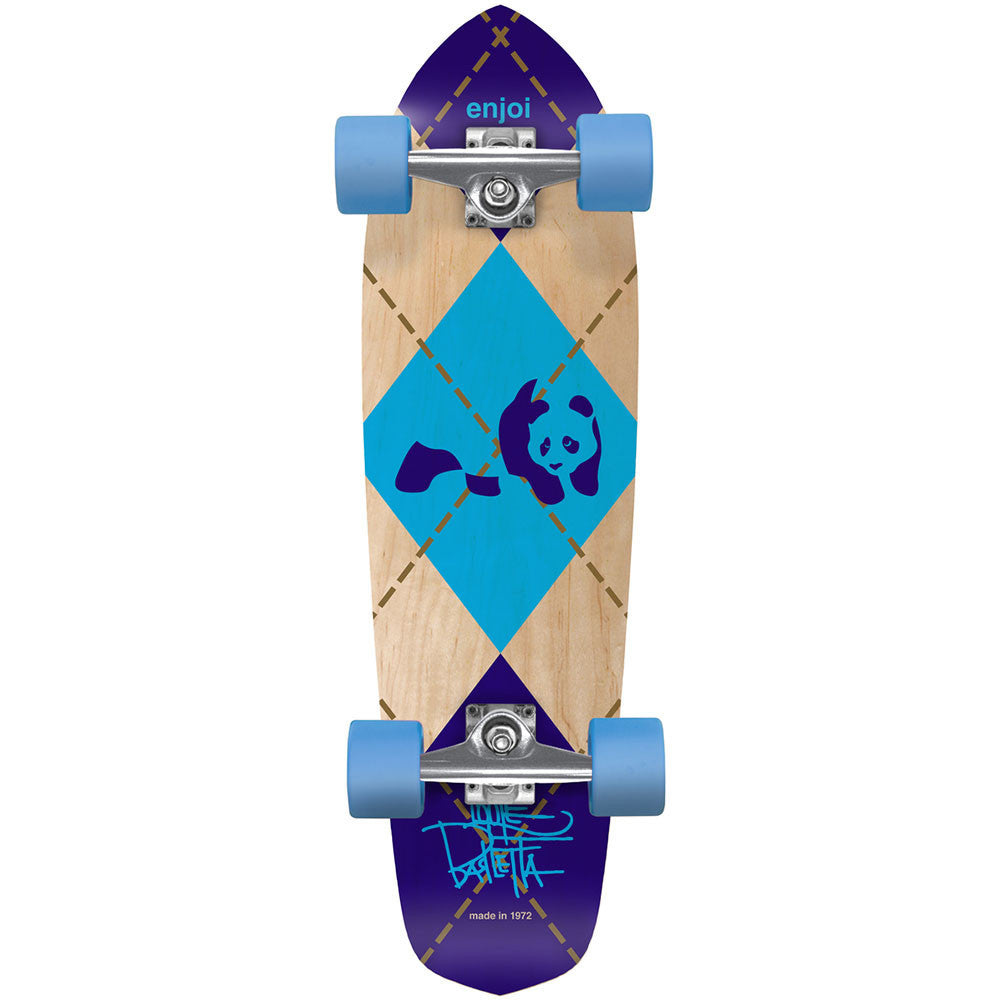 Enjoi Louie Barletta Argyle Cruiser Complete Skateboard - Multi - 7.94in x 28.4in
