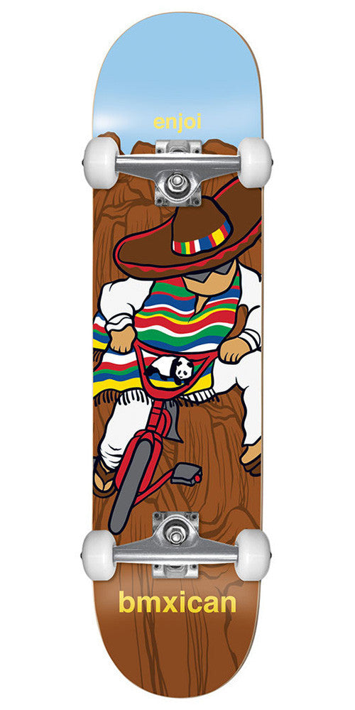 Enjoi Jose Rojo BMXican Complete Skateboard - Brown - 7.75in