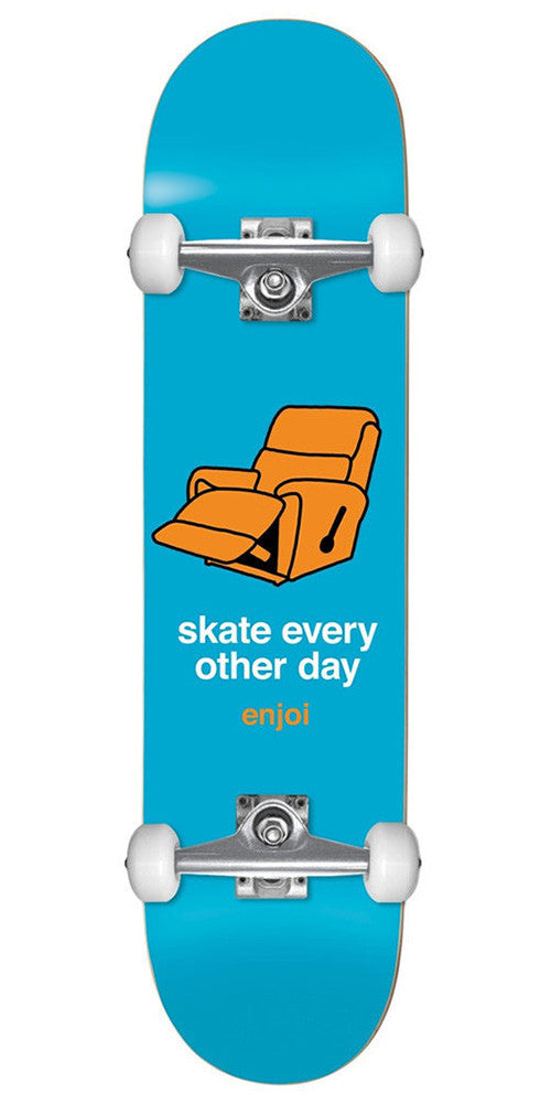 Enjoi Lazy w/ Pig Wheels Complete Skateboard - Blue - 8.0in