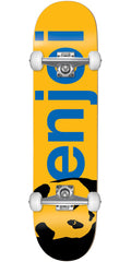 Enjoi Panda Head Large Full Complete Skateboard - Yellow - 8.0in