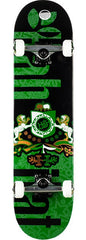 Habitat Coat of Arms Complete Skateboard - 7.75 - Black/Green