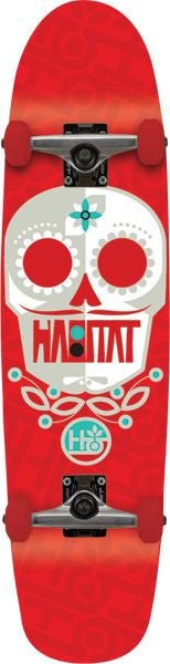 Habitat Sugar Skull Small Complete Skateboard - 7.75 - Red