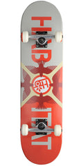 Habitat Avian Eclipse LG Complete Skateboard - Grey/Red - 8.0