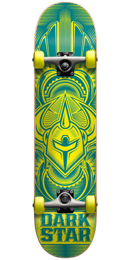 Darkstar Scour FP Youth - Blue/Yellow - 7.0 - Complete Skateboard