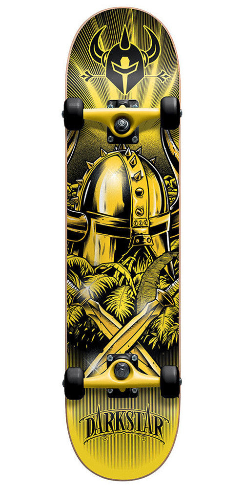 Darkstar Radiant Youth Mid FP Complete Skateboard - Yellow - 7.4