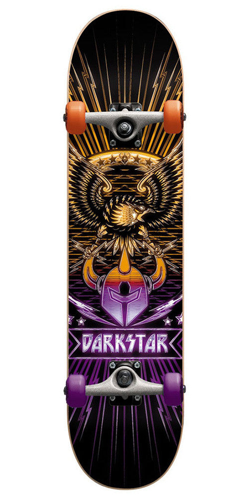 Darkstar Manifest FP Complete Skateboard - Purple/Yellow - 7.8