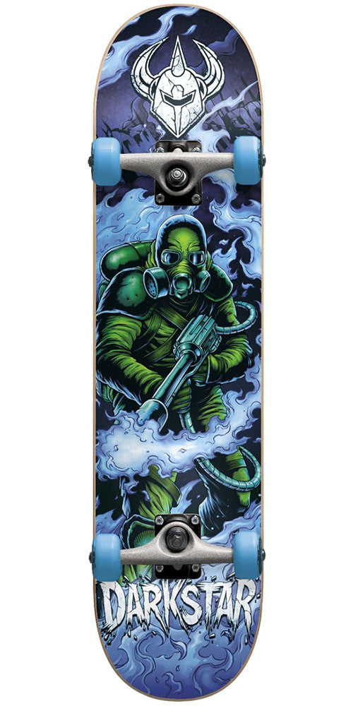 Darkstar Fire Youth Mid Complete Skateboard - Blue - 7.25in