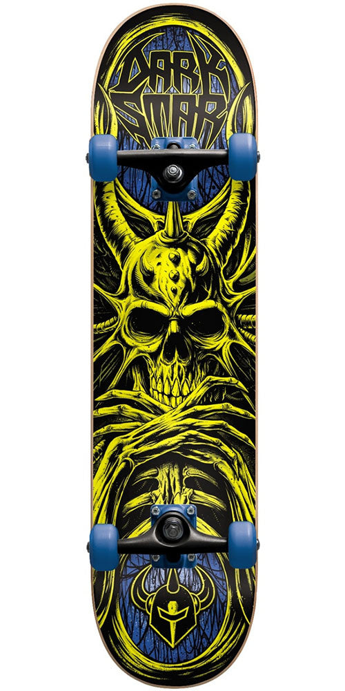 Darkstar Roots Youth Complete Skateboard - Yellow/Blue - 7.375in