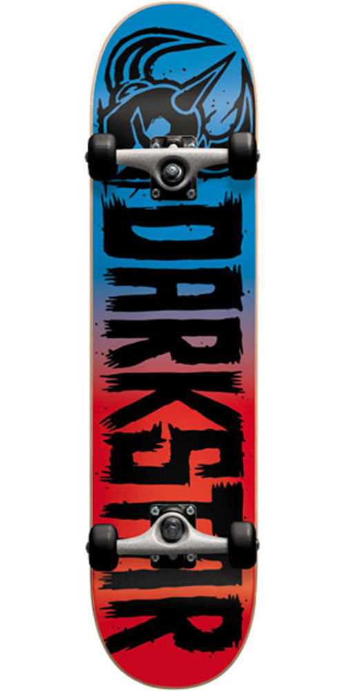 Darkstar Block FP Complete Skateboard - Blue/Red - 8.0in