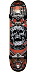 Darkstar Crest FP Complete Skateboard - Red - 7.5in