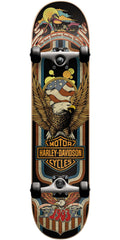 Darkstar Harley Davidson Eagle FP Complete Skateboard - Black - 8.0in