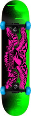 Anti-Hero Stencil Mini Complete Skateboard - 7.3 - Green/Pink