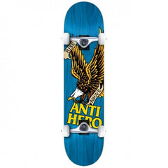 Anti-Hero Rise Above Small Complete Skateboard - 7.5 - Blue