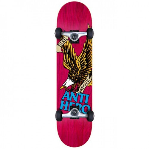 Anti-Hero Rise Above Medium Complete Skateboard - 7.75 - Magenta
