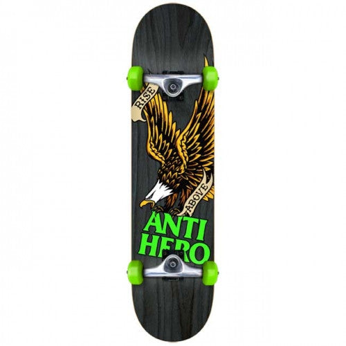 Anti-Hero Rise Above Large Complete Skateboard - 8 x 32 - Charcoal
