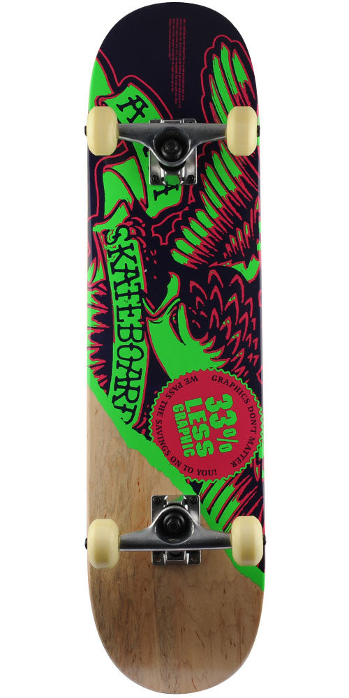 Anti-Hero Less Graphic Complete Skateboard - Natural/Purple/Green - 7.875in x 31.25in