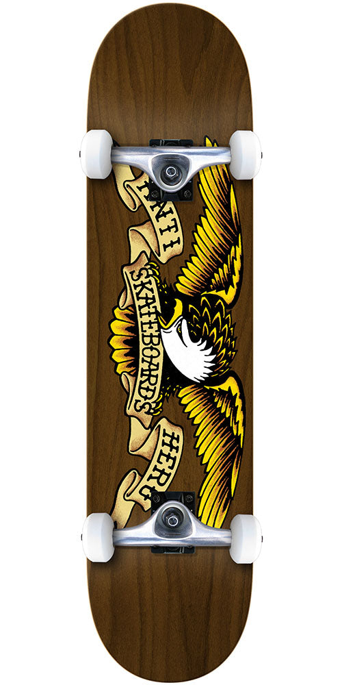 Anti-Hero Stained Eagle Complete Skateboard - Brown - 7.75in x in