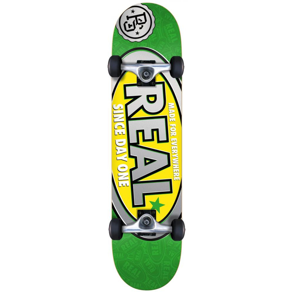 Real Since Day One Large Complete Skateboard - 8 x 31.75 - Green/Yellow