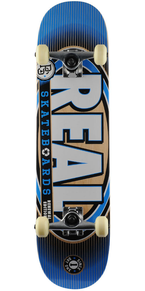 Real Renewal Complete Skateboard - Blue - 7.875in x 31.25in