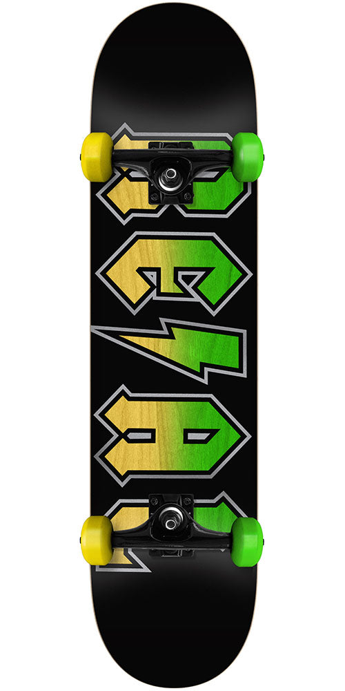 Real Deeds Fade Complete Skateboard - Black - 7.5in x in