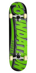 Foundation Blazin' II  Complete Skateboard - 7.875 x 30.5 - Green