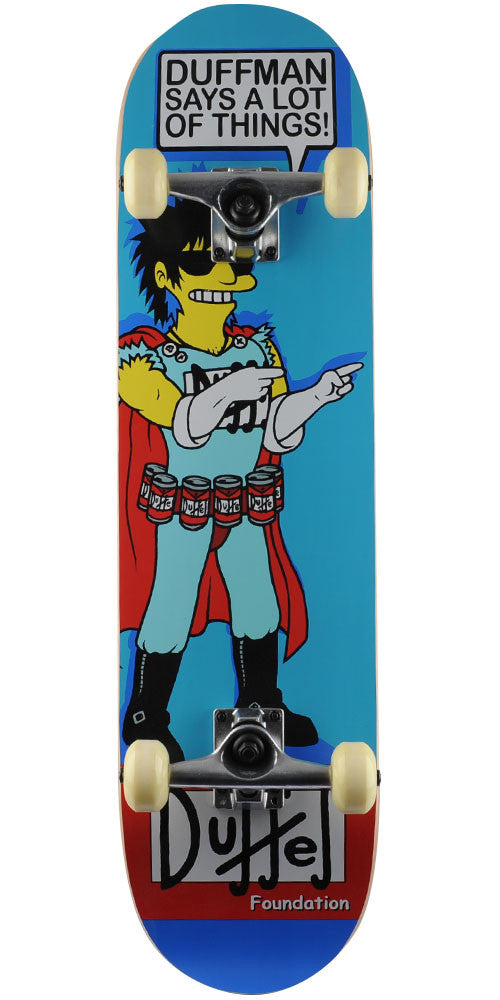 Foundation Duffman Complete Skateboard - Blue - 8.125in x 31.25in