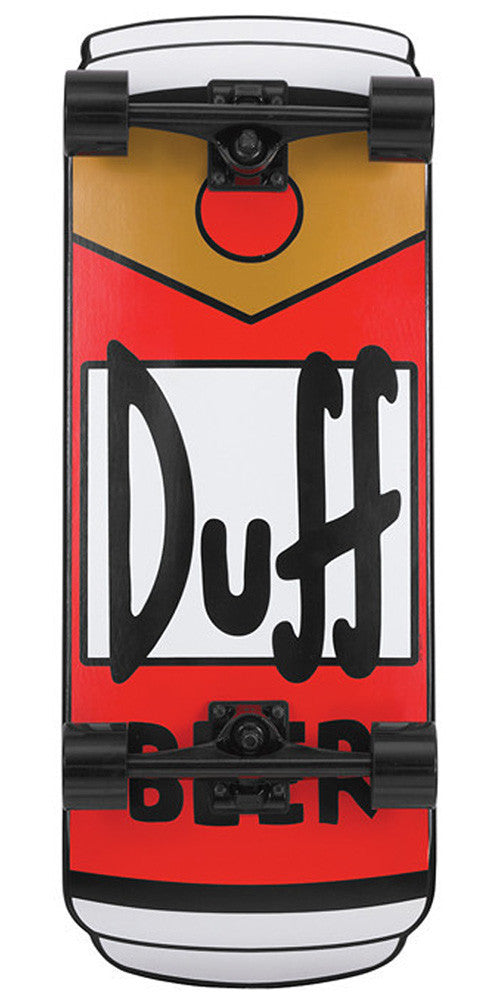 Blemished - Santa Cruz Skate Simpsons Duff Can Cruzer Complete Skateboard - Red/Brown - 10.5in x 27.5in
