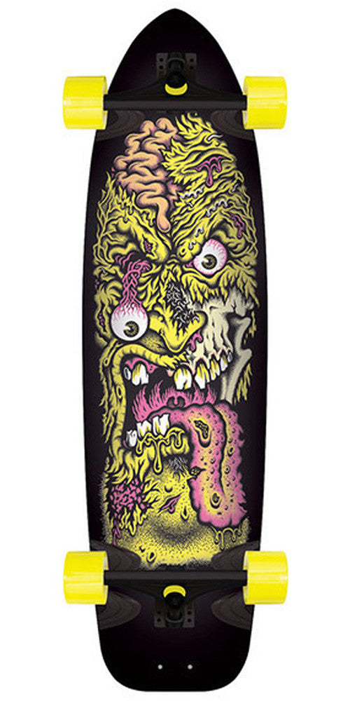 Santa Cruz Rob Face 2 Speedboard Cruzer - Black/Yellow - 10in x 37in - Complete Skateboard