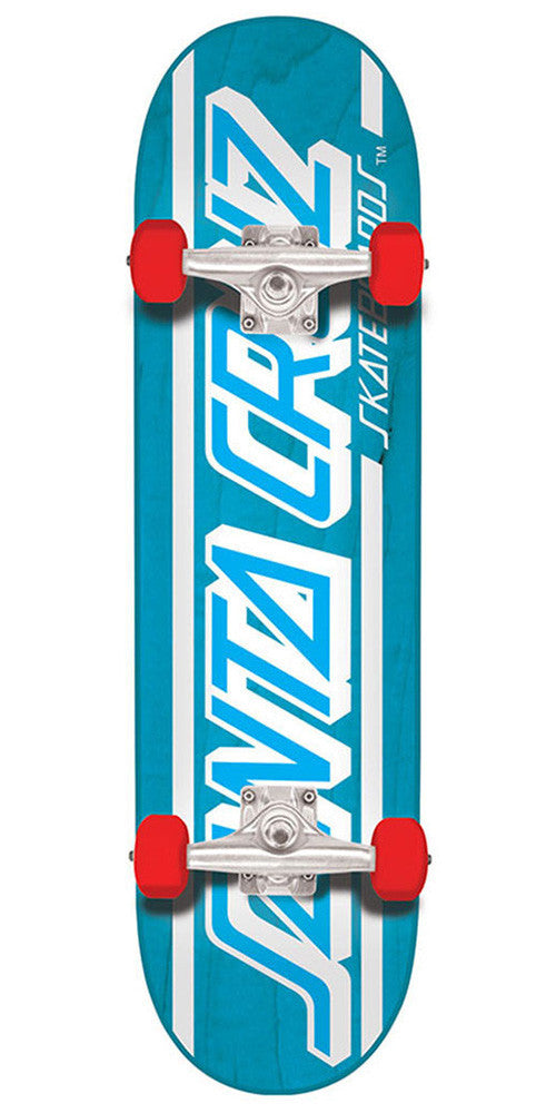 Santa Cruz Strip Regular Sk8 Complete Skateboard - 7.8in x 31.7in - Blue