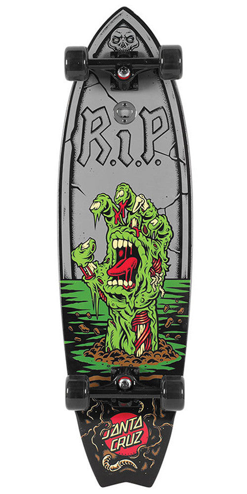 Santa Cruz The Walking Hand Shark Cruzer Complete Skateboard - Grey/Black - 10.0in x 36.0in
