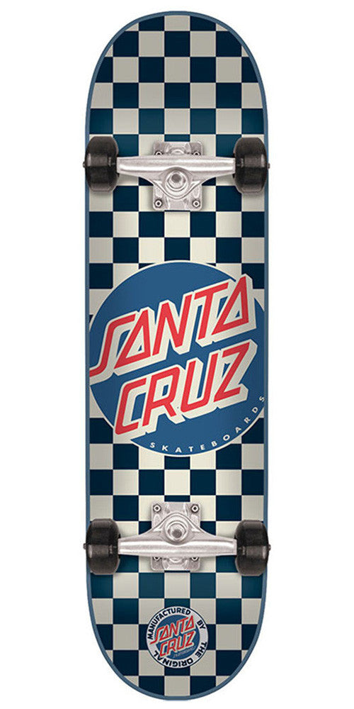 Santa Cruz Check Dot Sk8 Complete Skateboard - Blue - 7.9in x 31.7in