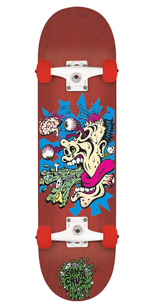 Santa Cruz Skate Puke Regular Sk8 Complete Skateboard - Red - 7.5in x 30.6in