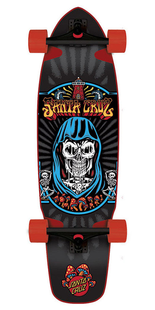 Santa Cruz Flex Tech Trippin Cruzer Complete Skateboard - Black - 9.72in x 37.78in