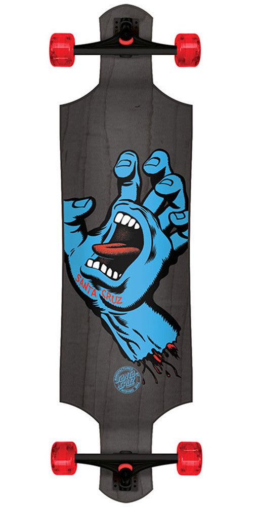 Santa Cruz Screaming Hand Micro Drop Down Cruzer Complete Skateboard - Black - 9.34in x 36.52in