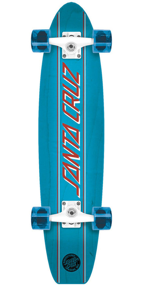 Santa Cruz Classic Strip Cruzer Complete Skateboard - Blue - 6.8in x 28.95in