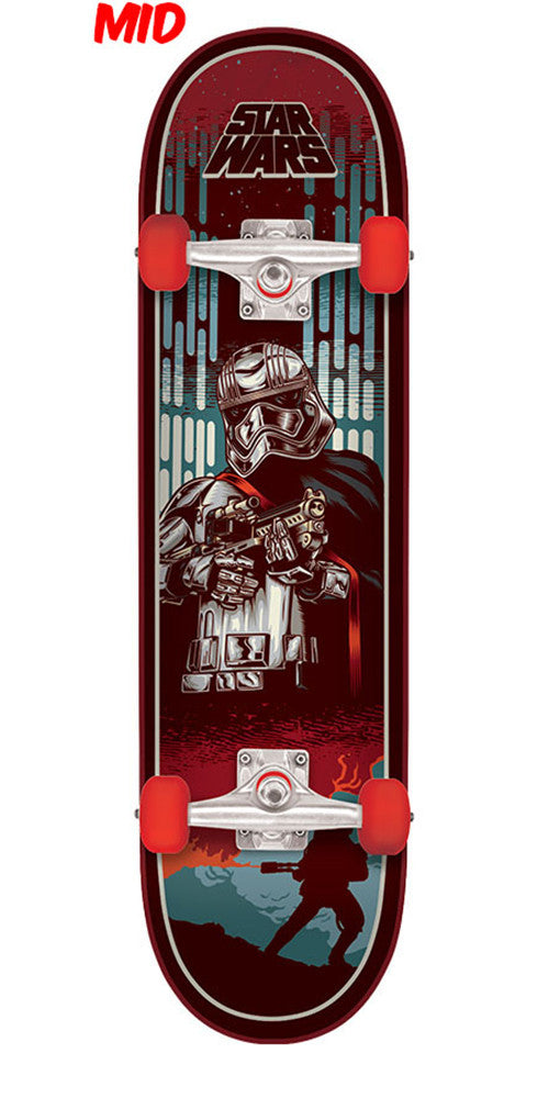 Santa Cruz Star Wars Episode VII Captain Phasma Mid Sk8 Complete Skateboard - Red - 7.25in x 29.9in