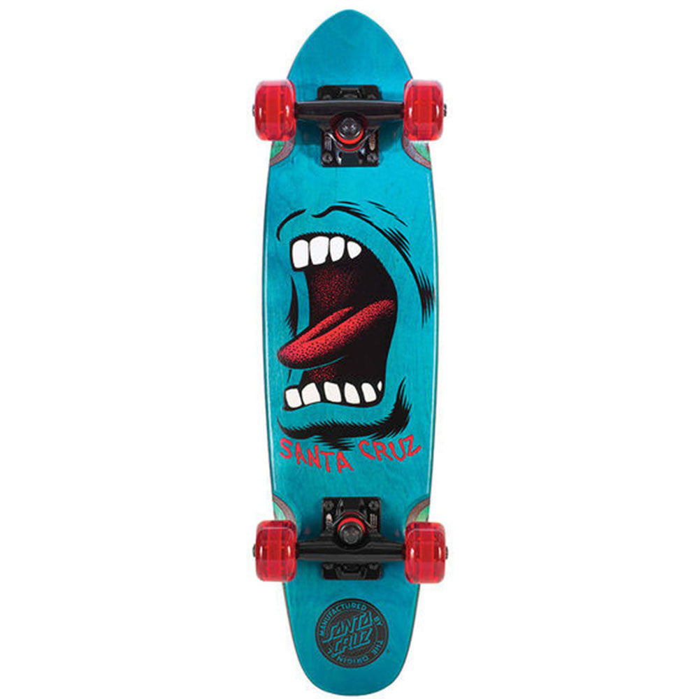 Santa Cruz Sidewalk Screamer Cruzer Complete Skateboard - Blue - 6.5in x 25.5in