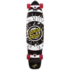 Blemished Santa Cruz Rob Dot Cruzer Complete Skateboard - Black/White - 9.3in x 36.0in